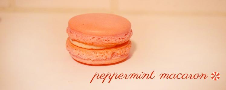 peppermint macaron