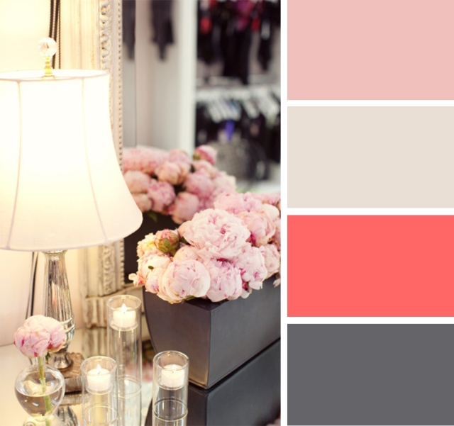 Color palette gray pink white pop circumstance - Grey and red colour scheme ...