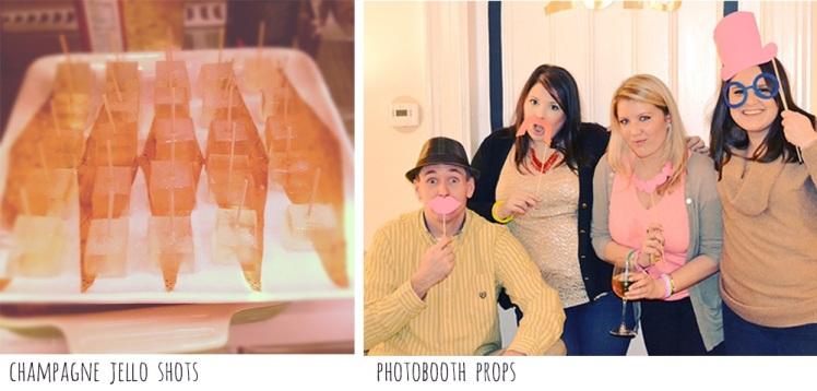 champagne jello shots & photo booth