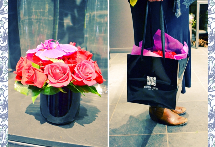 roses and bag