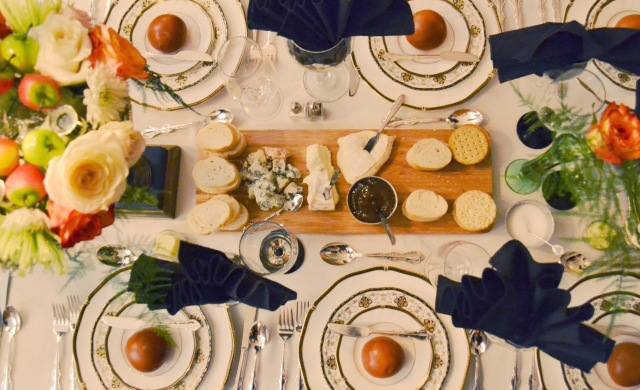 Downtown Abbey dinner table