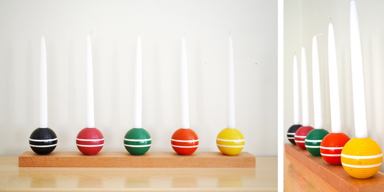 croquet ball candlesticks