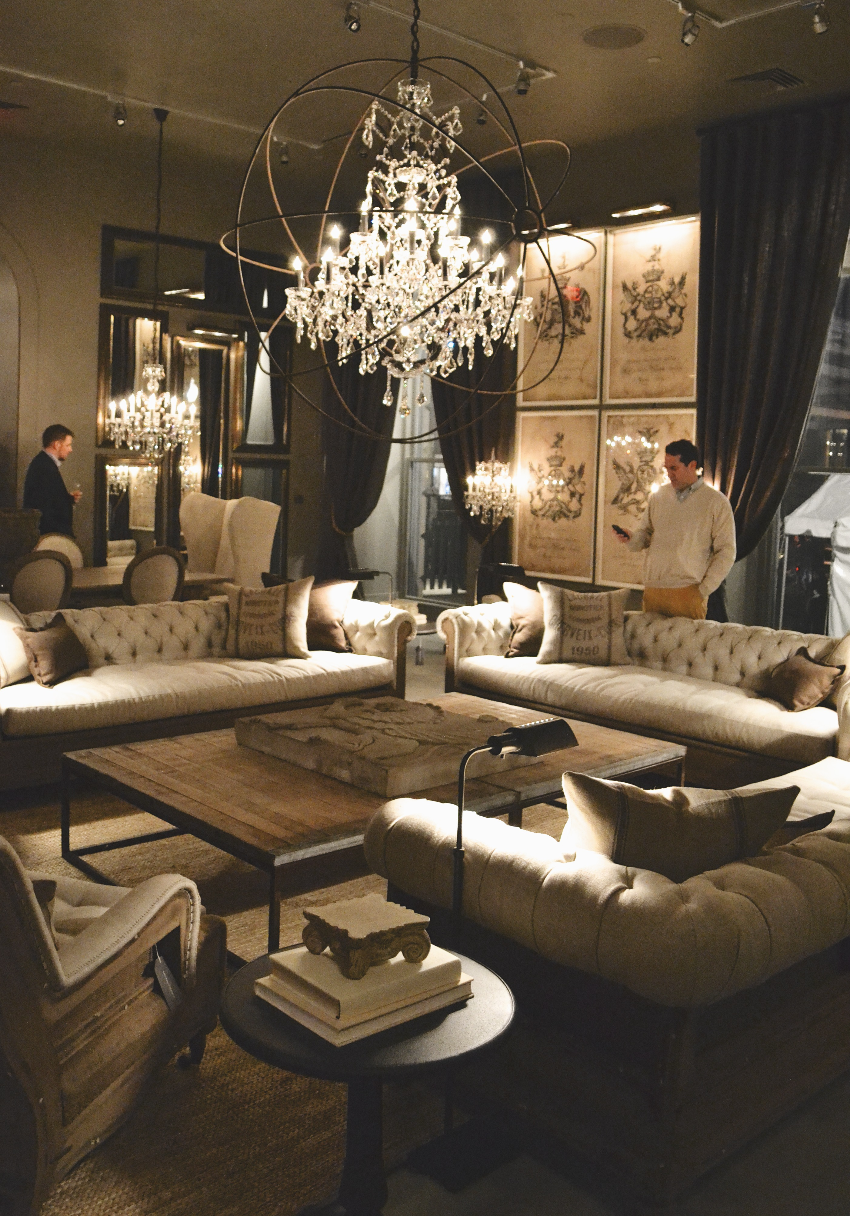 Restoration Hardware Opening Party Pop Circumstance Guidebook For Beautiful Living