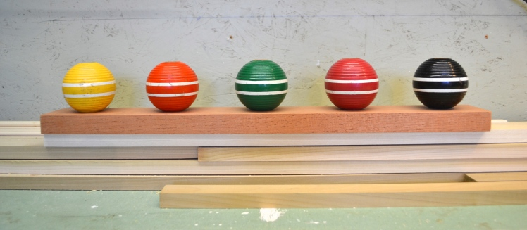 croquet ball centerpiece