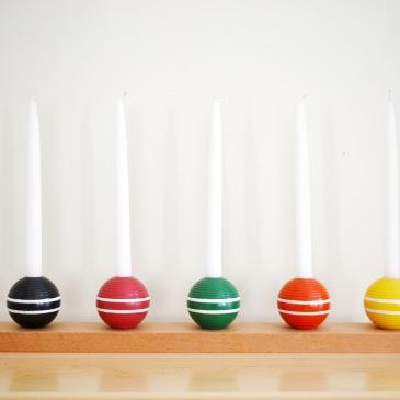 croquet ball candlesticks