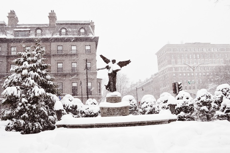 Boston Garden in the snow