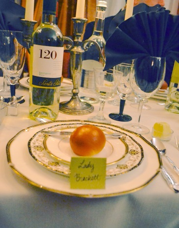 Downton Abbey dinner menu