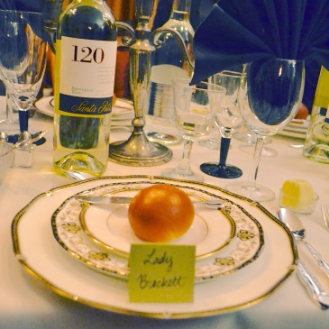 Downton Abbey dinner menu
