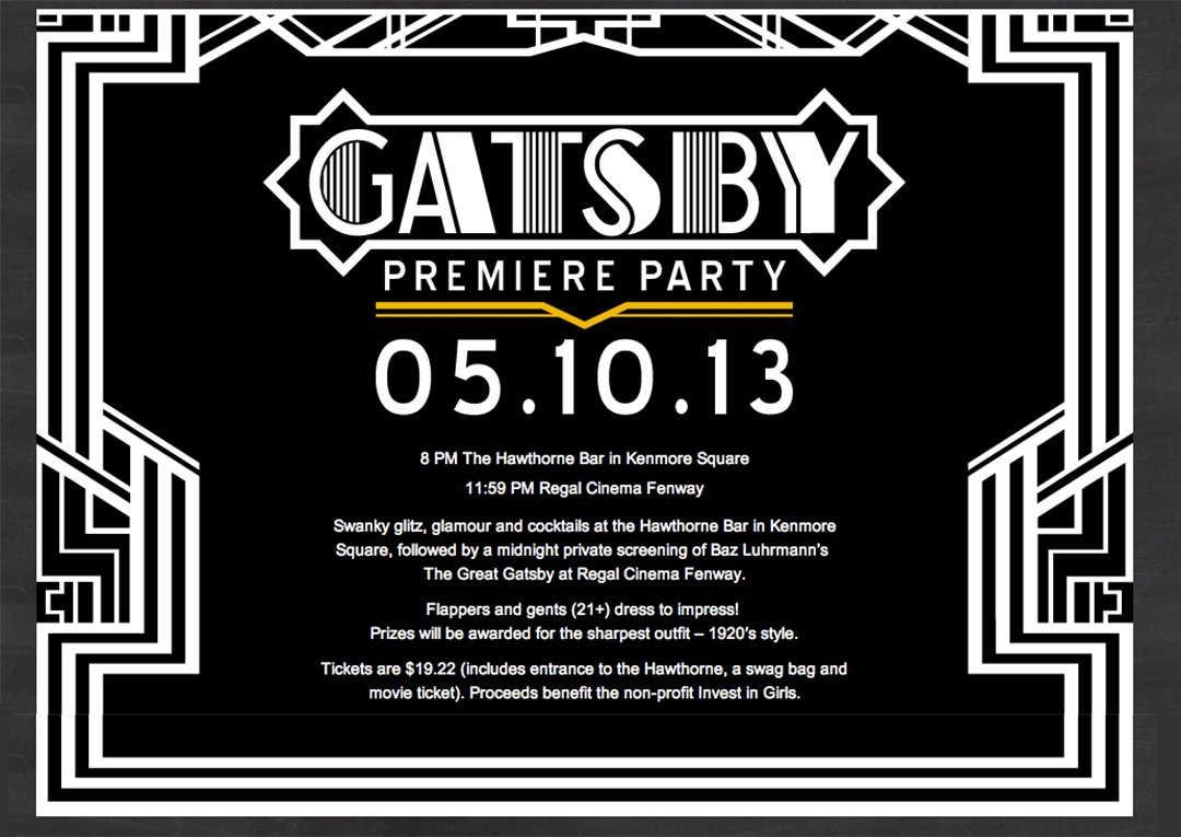 Gatsby Premiere Party – Pop & Circumstance | Guidebook for ...
