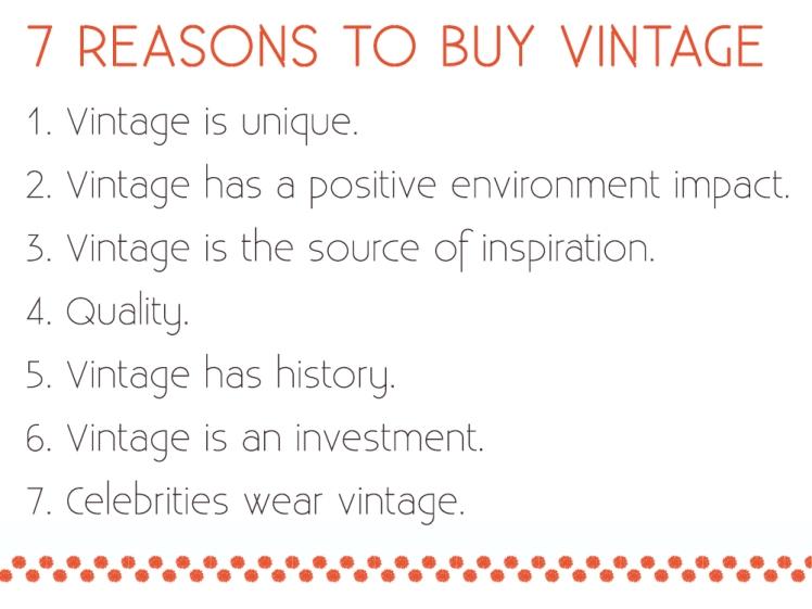 why buy vintage?