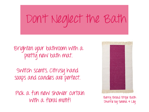 brighten the bathroom