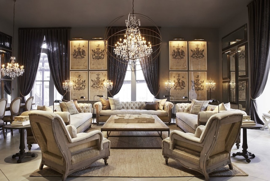 tour of the restoration hardware flagship store in boston pop