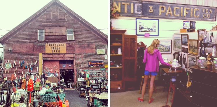 Antique shopping in Maine
