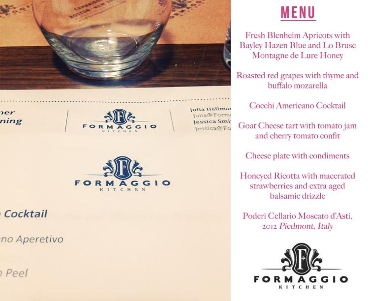Formaggio Kitchen class
