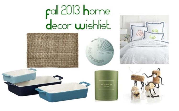fall home decor wish list