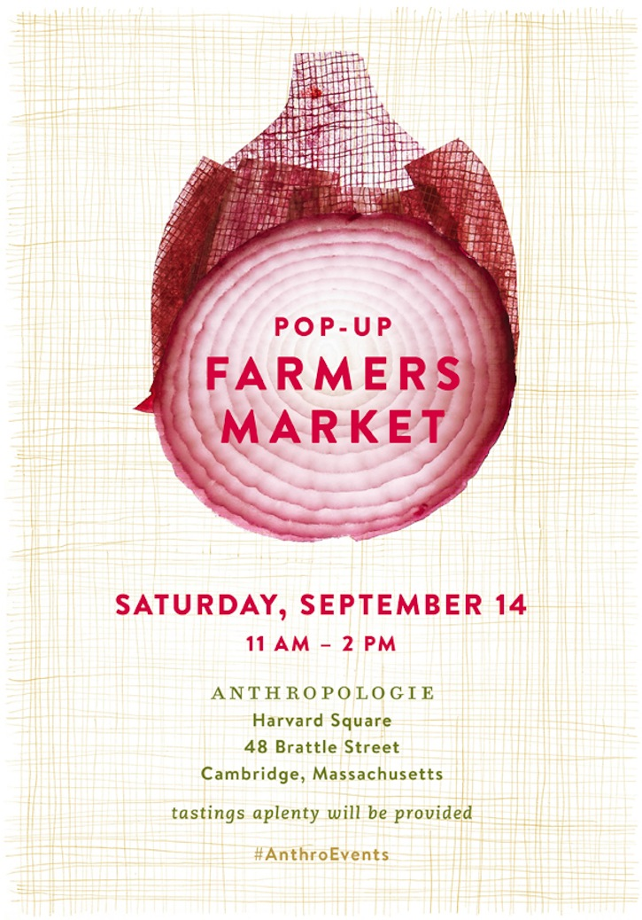Anthropologie Farmers Market pop up