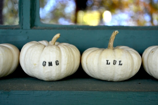 stamped pumpkin DIY