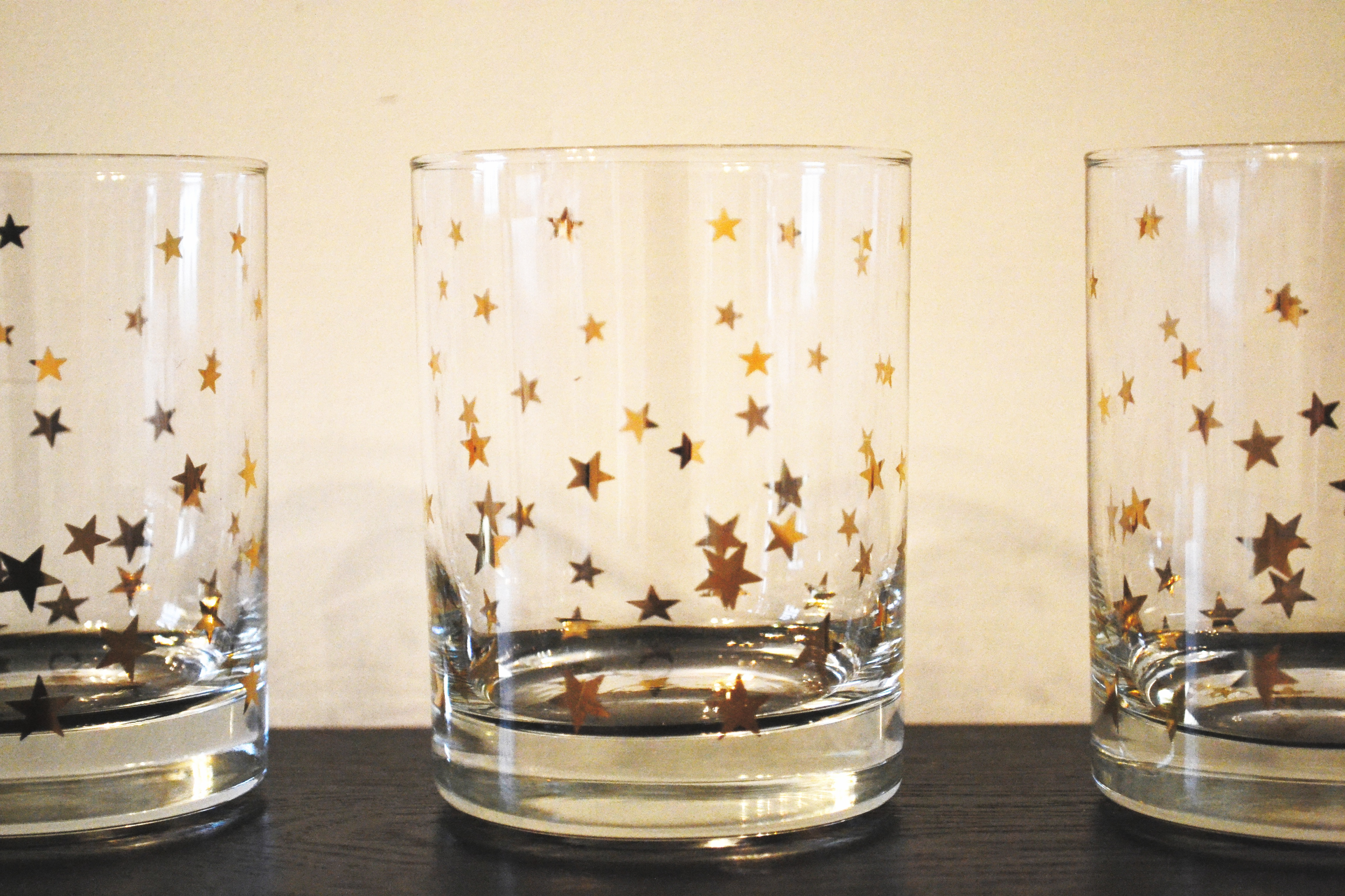 gold vintage star glasses