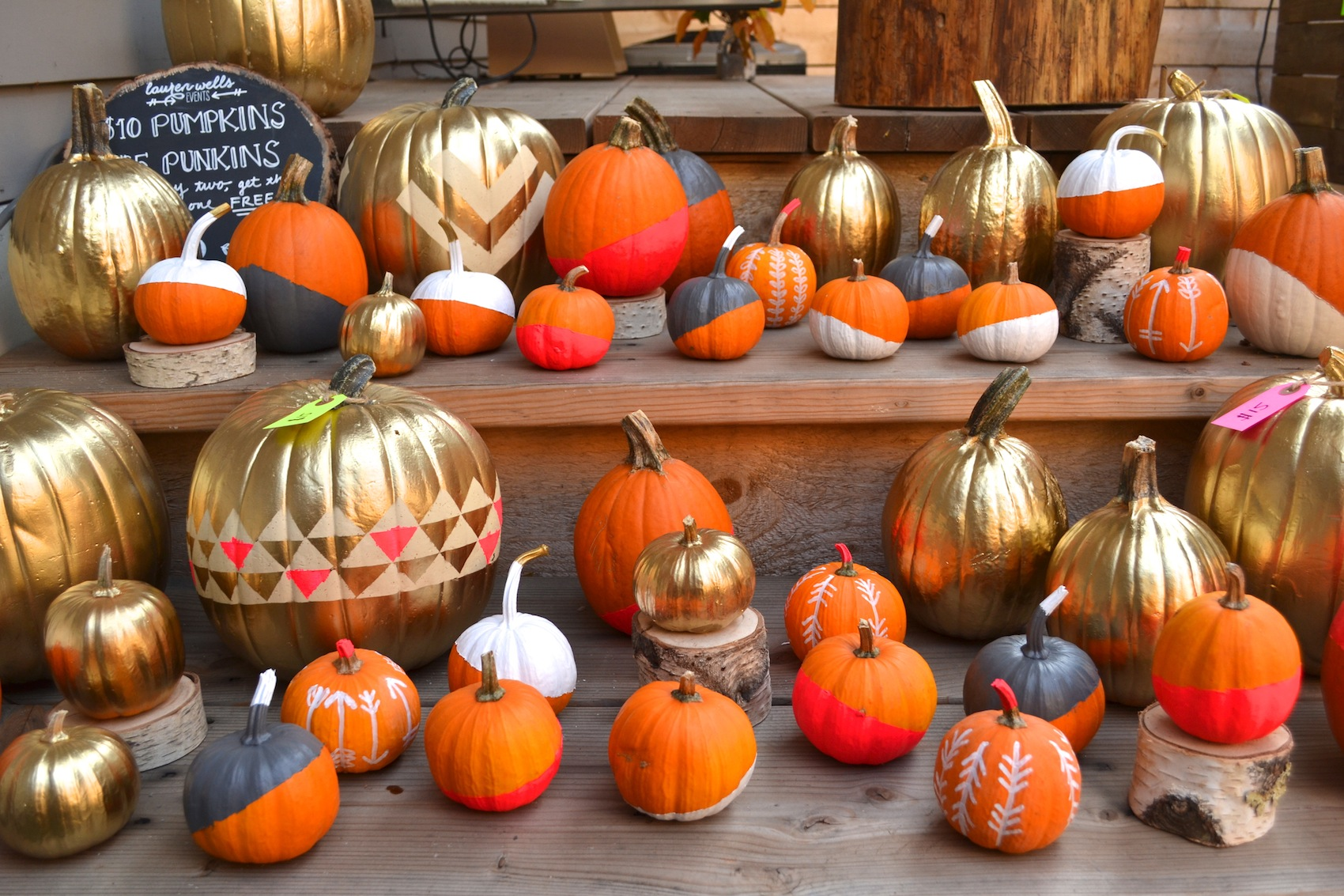painted pumpkins