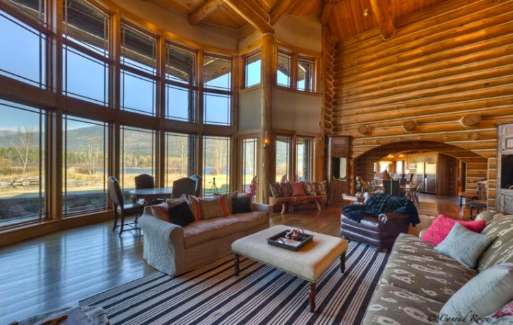 Montana cabin inside