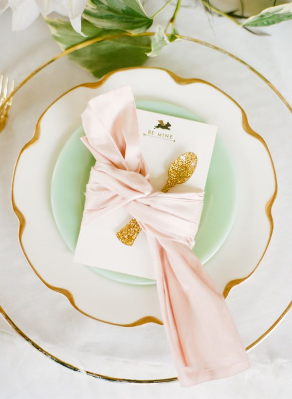 jade and pink setting