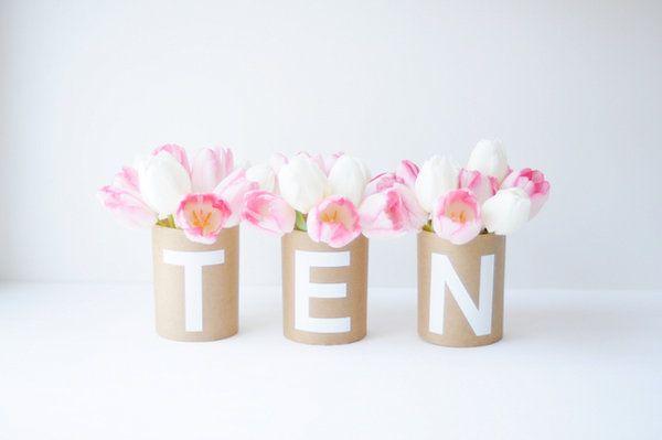 number vases