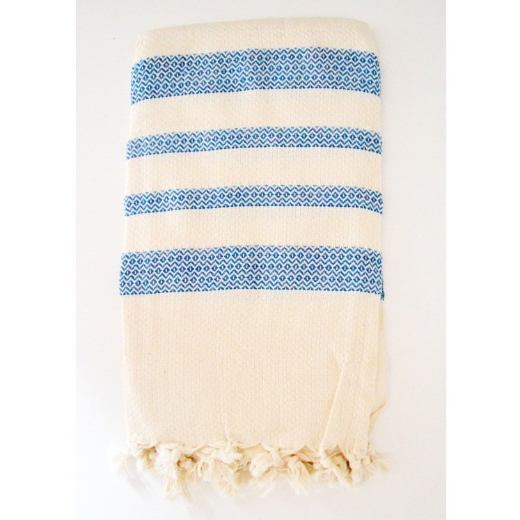 Turkish towel in blue stripe