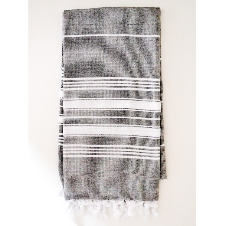 Turkish towel in gray