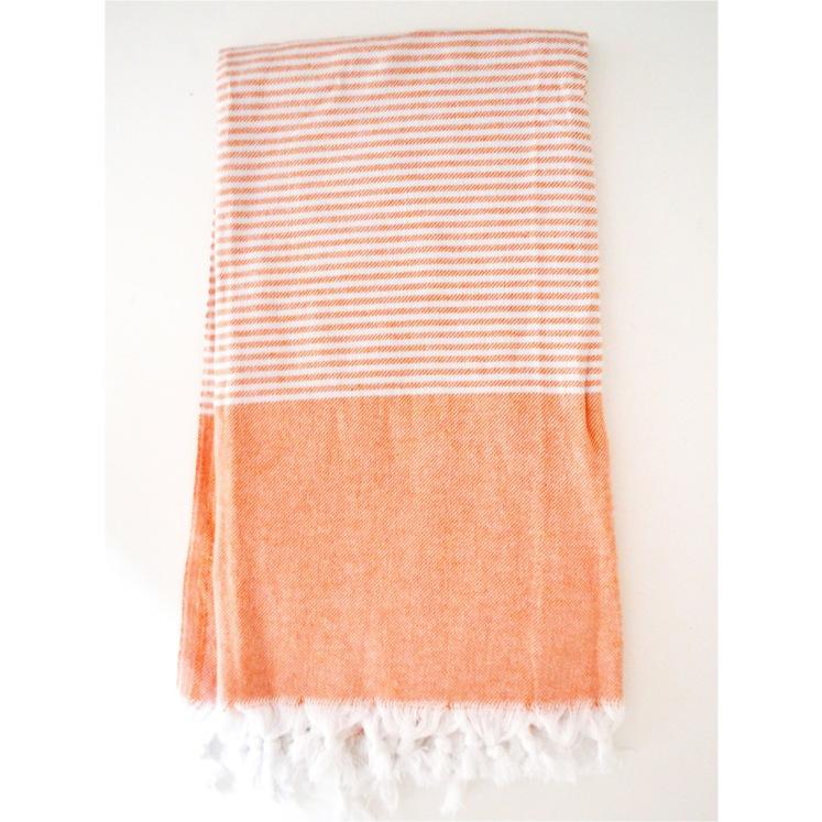 Turkish towel in orange