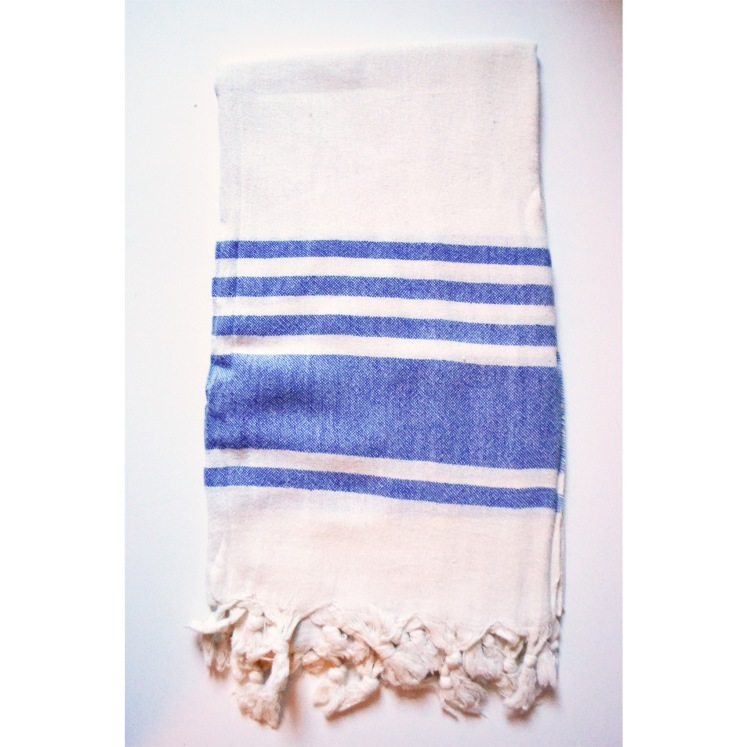 Turkish towel blue stripe