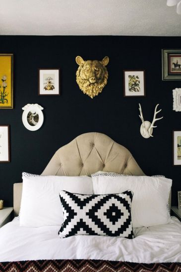 decorating with dark paint
