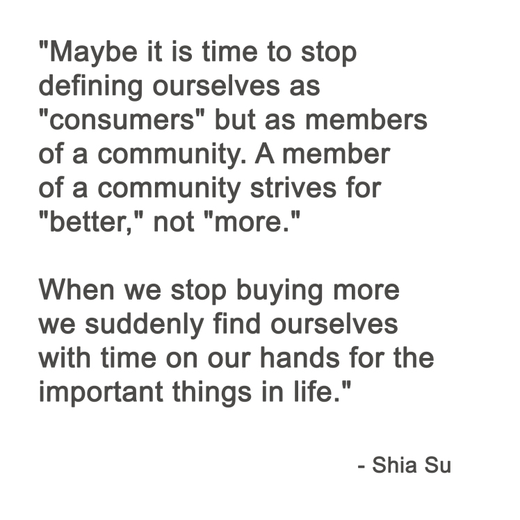 Shia Su minimalism quote